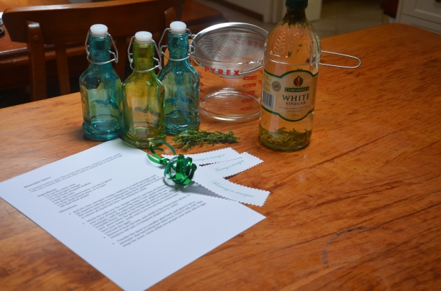What you need to turn your tarragon vinegar into the perfect gift.