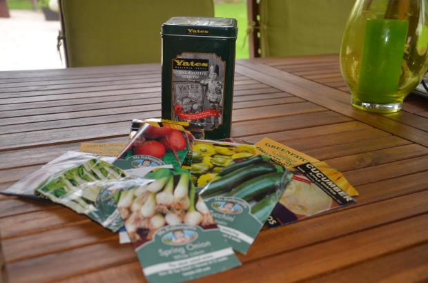 packets of seed ready to plant